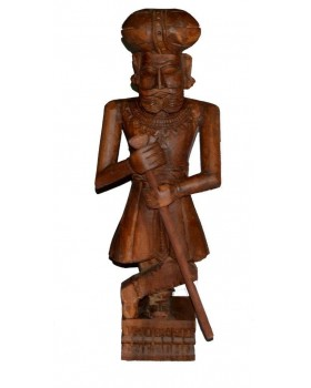 CARVED GATE MAN ( DARK BROWN)