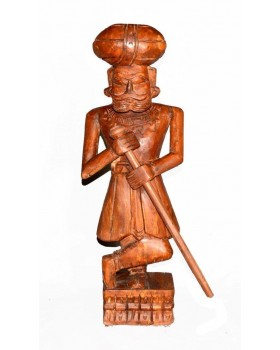 CARVED GATE MAN (WOOD FINISH)