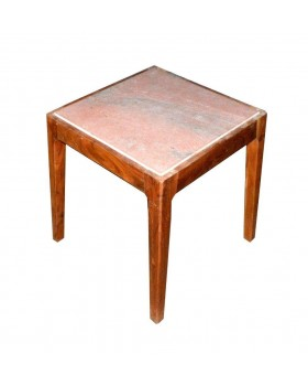 Wooden Marble Top Stool