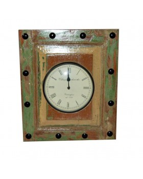 Wooden old panel watch