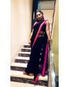 Black pallazo georgette saree