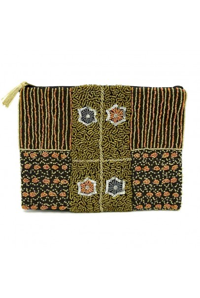 Beaded Floral Pouch
