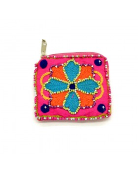Beaded Sunflower Small Coin Purse