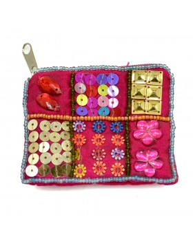 Embellished Pink Small Coin Purse