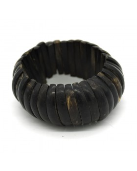 Small Pieces Black  Wood Bangle