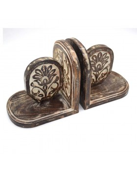Lotus Wooden Bookends