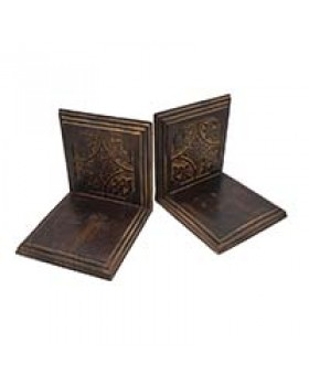 Leaves Decorative Wooden Bookends