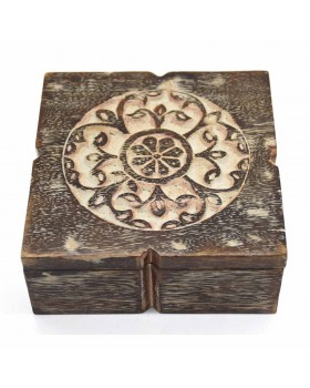 Antique Wooden Box-Square