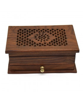 Jali Sunflower Treasure Wooden Box