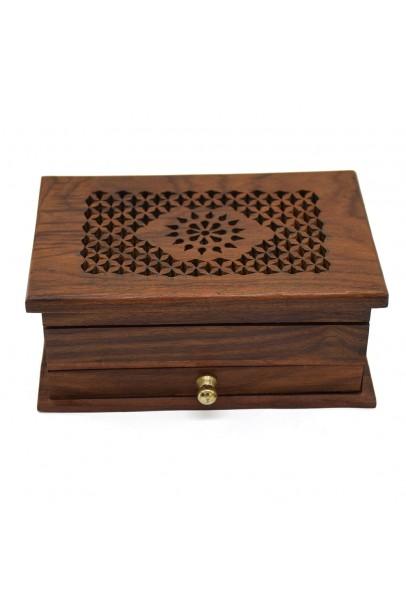 Jali Sunflower Treasure Wooden Box