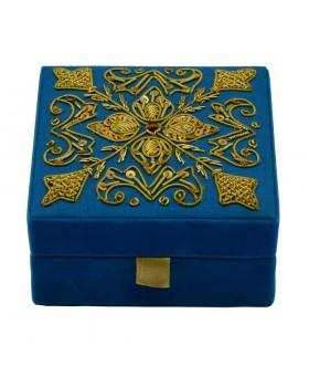 Turquoise Beaded Decorative Box