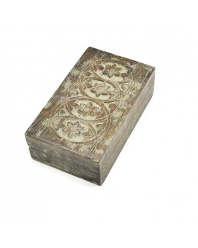 Floral Rectangle White Box
