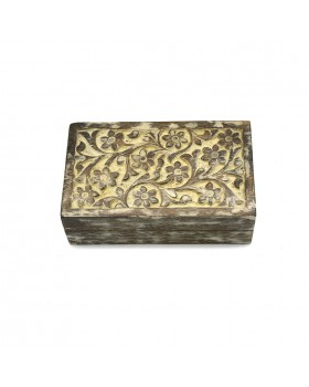 Floral Rectangle Golden Box