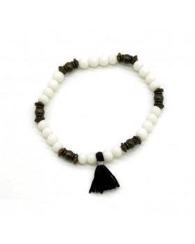 Black and White Beads Bracelet