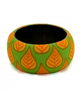 Leaves Fabric Bangle