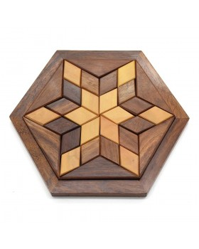 Piece-It-Together Wood Game-Star