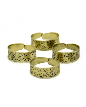 Golden Criss Cross Toe Ring, Set of 4