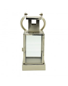 Western Silver Plated White Trasparent Glass  Lantern