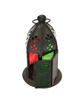 Galib Oxidised Window Lantern
