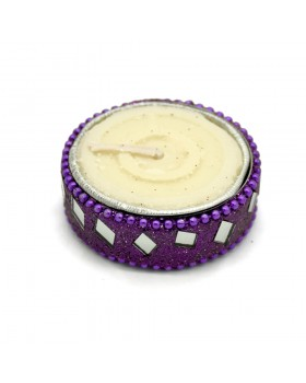 Festive Glamour Tea Light Holder-Purple