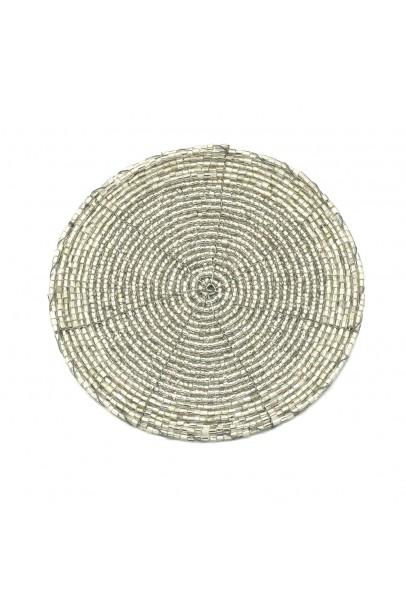Grey Beaded Coaster-Set of 4