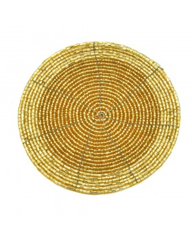 Golden Beaded Coaster-Set of 4