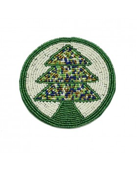 Christmas tree Beaded Coaster-Set of 4