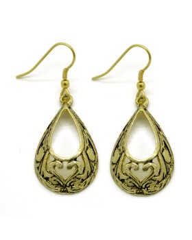 Carved Drop Earrings