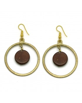 Circle Earrings-Gold