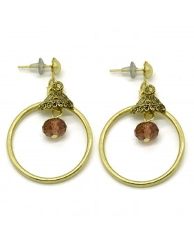 Circle Jhumki Earrings