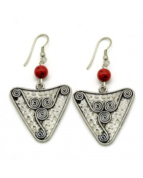 Spiral in Triangle Earrings