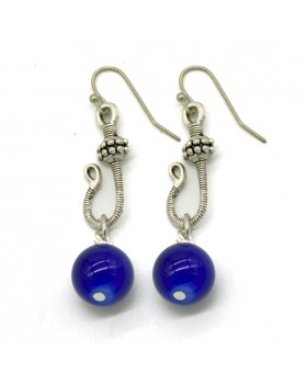 Blue Hook Earrings