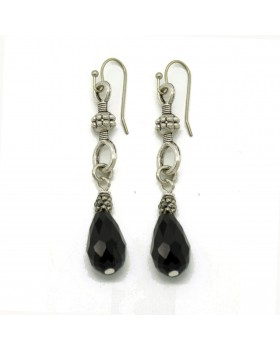 Black Onyx Hanging Earrings