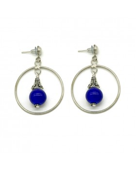 Round Hanging Earrings