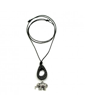 Bone Drop Carving Elephant Men Necklace