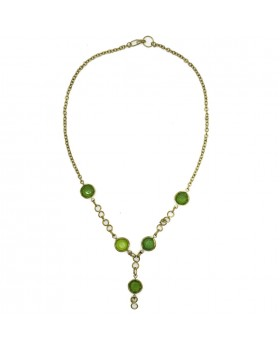 Green Glass Beads Necklace