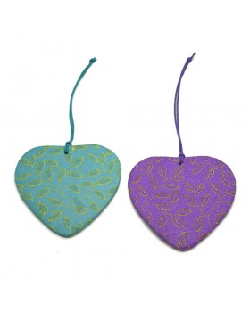 Heart Ornaments-Assorted,Set of 2
