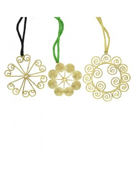 Round Spiral Ornament-Set of 3