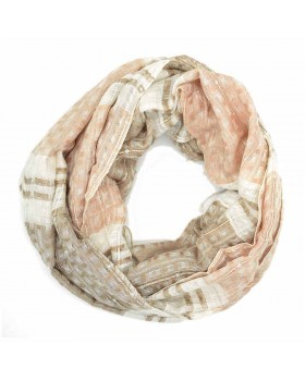Double Design Viscose Thread Scarf