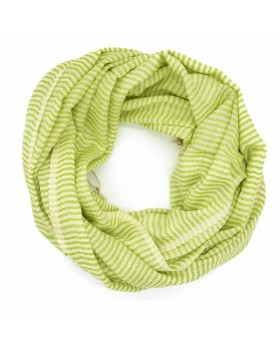 Parrot Mix White Line Viscose Thread Scarf