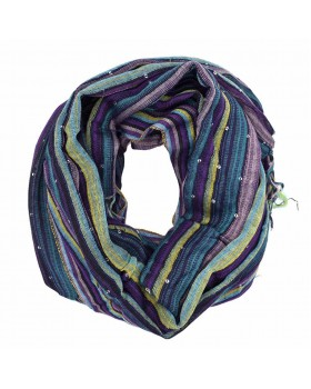 Purple Multed with Sequin Viscose Thread Scarf1