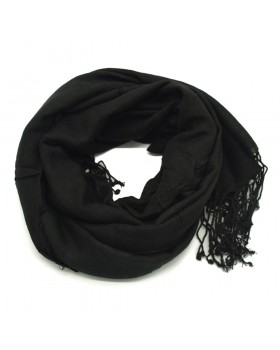 Black Smooth Scarf