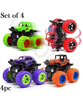 Unbreakable 4pc 4WD Mini Monster Trucks