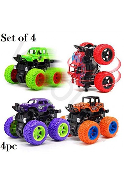 Unbreakable 4pc 4WD Mini Monster Trucks