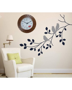Plastic Wooden Look Designer Wall Clock