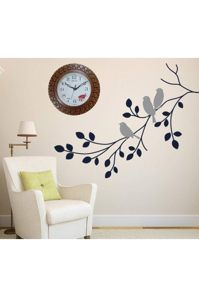 Plastic Wooden Look Designer Wall Clock