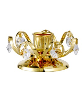 24K GOLD PLATED CANDLE HOLDER (SMALL)