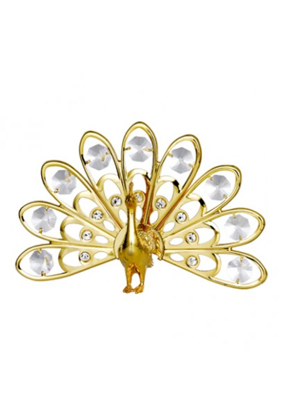24K GOLD PLATED PEACOCK