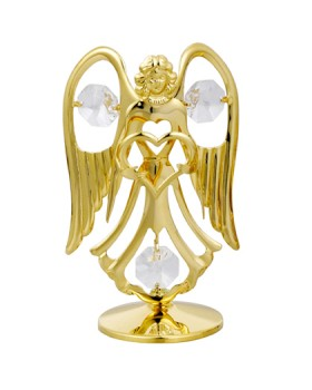24K GOLD PLATED ANGEL WITH HEART