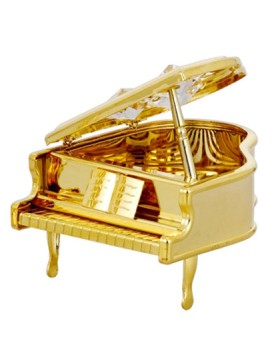 24K GOLD PLATED PIANO